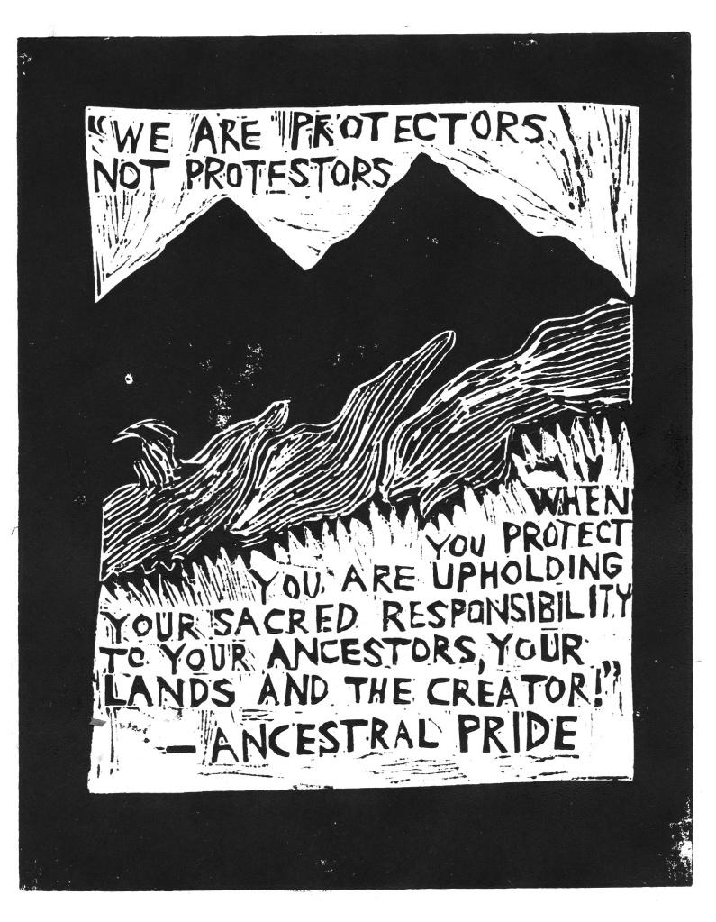 Ancestral Pride Linocut