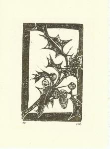Holly Card