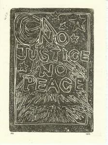 No Justice No Peace Card