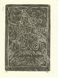No Justice No Peace Card